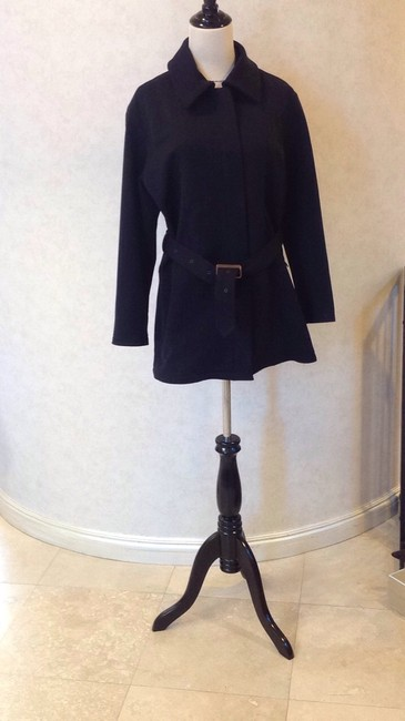 New York XOE Weather Resistant Belted Detachable Faux Fur Collar Military Jacket