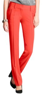 Ann Taylor Straight Pants Red