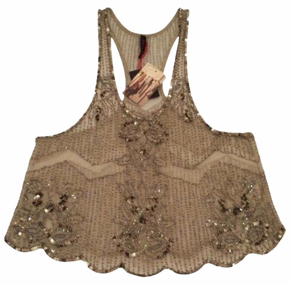 8e24459a Urban Outfitters Sequin Embellished Date Top Gold Image 0 ...