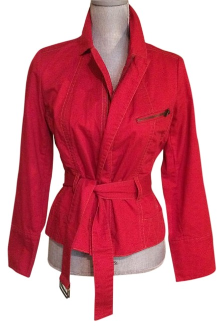 Item - Red Cotton Jacket Size 6 (S)