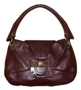 Salvatore Ferragamo Feragamo Leather Hobo Bag
