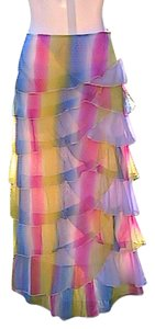 Other Rainbow Maxi Skirt Pink