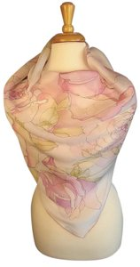 Valentino SPRING CHIC! NEW Couture Silk Chiffon Floral Foulard Scarf Wrap
