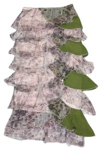 Other Layer Maxi Skirt Green Multi