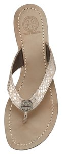 Tory Burch Pewter gray silver Sandals