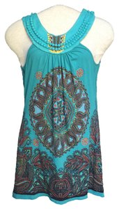 Language short dress Turquoise Boho on Tradesy