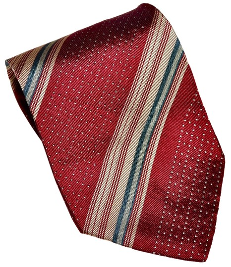 Giorgio Armani Giorgio Armani Red Striped All Silk Designer Necktie Tie Made in Italy
