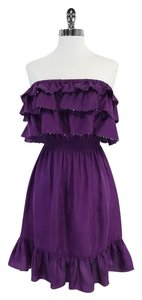 Rebecca Taylor short dress Purple Tiered Sequined Top on Tradesy