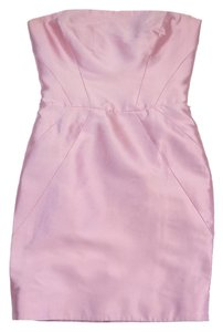 Ralph Lauren short dress Pink Satin Strapless on Tradesy
