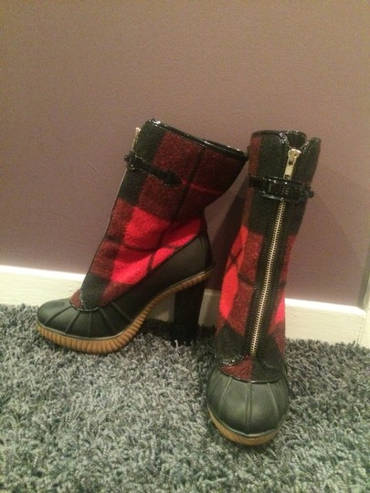 Michael Kors Red And Black Boots