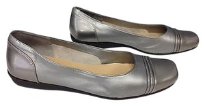 Easy Spirit Leather Ballet Silver Flats