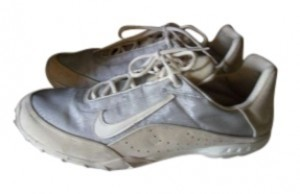 Nike Cream and Silver Athletic