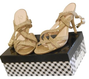 Delman Gold Pumps