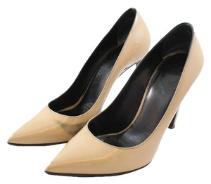 Yves Saint Laurent Ysl Calfskin Penny Lane Nude Pumps