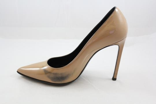 Saint Laurent Ysl Calfskin Penny Lane Nude Pumps