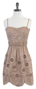BCBGMAXAZRIA short dress Mauve Floral Embroidered on Tradesy