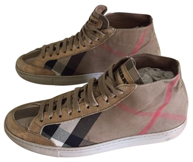 Item - Plaid with Gold Front Hightop Toe Sneakers Size US 5.5 Regular (M, B)