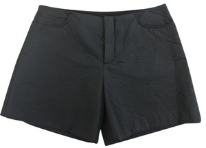 Maison Margiela Mm6 Rubberized Coated Flat Front Dress Shorts charcoal