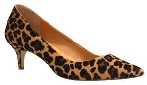 J.Crew Calf Hair Kitten Fall Leopard Pumps