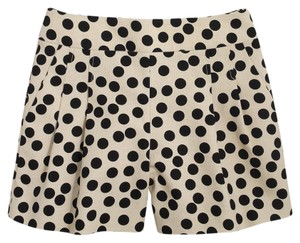 J.Crew Polka Dot Summer Dress Shorts Ivory black
