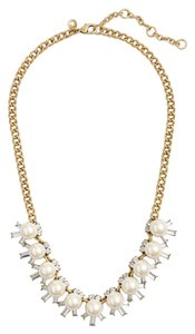 J.Crew NEW!!! Tags J. Crew Pearl Crystal Beams Gold Necklace NWT
