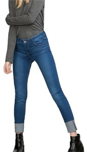 Zara Stretch Pants Skinny 4 Skinny Jeans-Medium Wash
