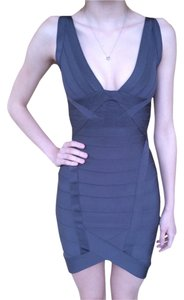 Herv Leger Bodycon Tight Gray Dress