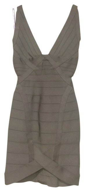 Hervé Leger Bodycon Tight Gray Dress