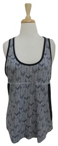 A.L.C. Sleeveless Printed Chevron Top blue