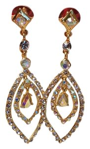 Gold Plated Sparkly Wedding Earrings 3