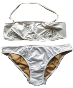 BCBGMAXAZRIA Embellished Bandeau & Bottom Bikini Swimsuit