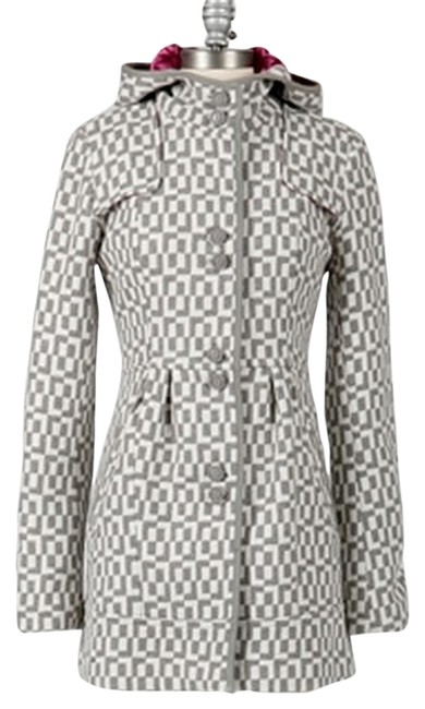 Item - Gray and White Hooded Coat Size 16 (XL, Plus 0x)
