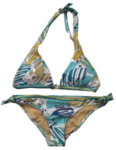 BCBGMAXAZRIA Butterfly Print Bikini with Gold Hardware