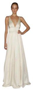 Nicole Miller Bridal Antique White Silk Elizabeth Destination Wedding Dress Size 10 (M)