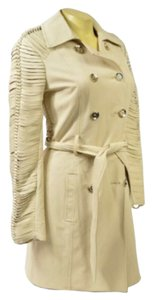 bebe Trench Leather Trench Coat