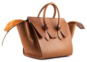 Céline Knot Camel Natural Tote in Saddle tan Celine