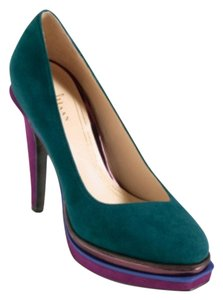 Cole Haan Pump Green Platforms