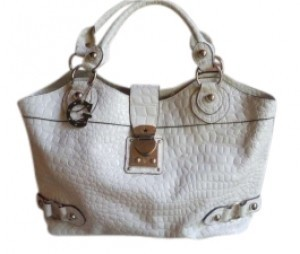 Guess Tote in White patent leather