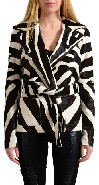Item - Multi-color Calf Belted Women's Jacket Size 4 (S)