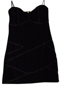 American Rag short dress Black Velvet Strapless on Tradesy