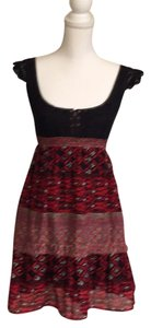 Free People short dress Red & Black Boho Bohemian Festival on Tradesy