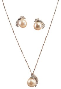 Wedding Micro Paved Faux Pearl Jewelry Set