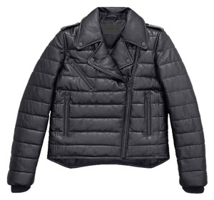 Alexander Wang Leather Padded Biker Sold Out black Leather Jacket
