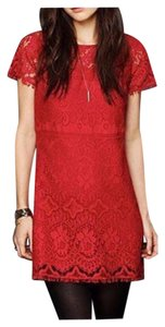 Free People short dress Blue Lace Shift Fit-and-flare on Tradesy