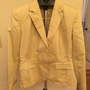 Brooks Brothers Structured Suiting Classic Khaki Blazer