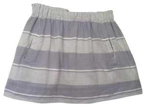 J.Crew Mini Skirt Light Blue & White Stripe
