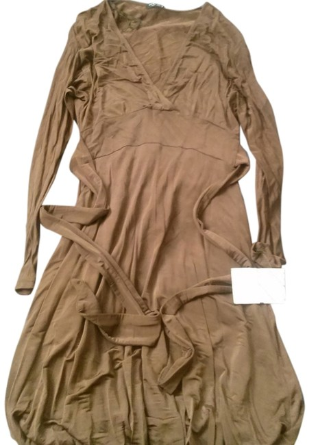 Item - Brown Made In Italy Knee Length Short Casual Dress Size 10 (M)