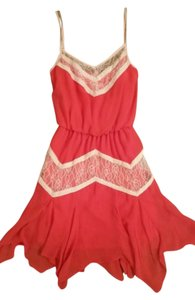Gianni Bini short dress Coral and Cream Lace Dancing on Tradesy