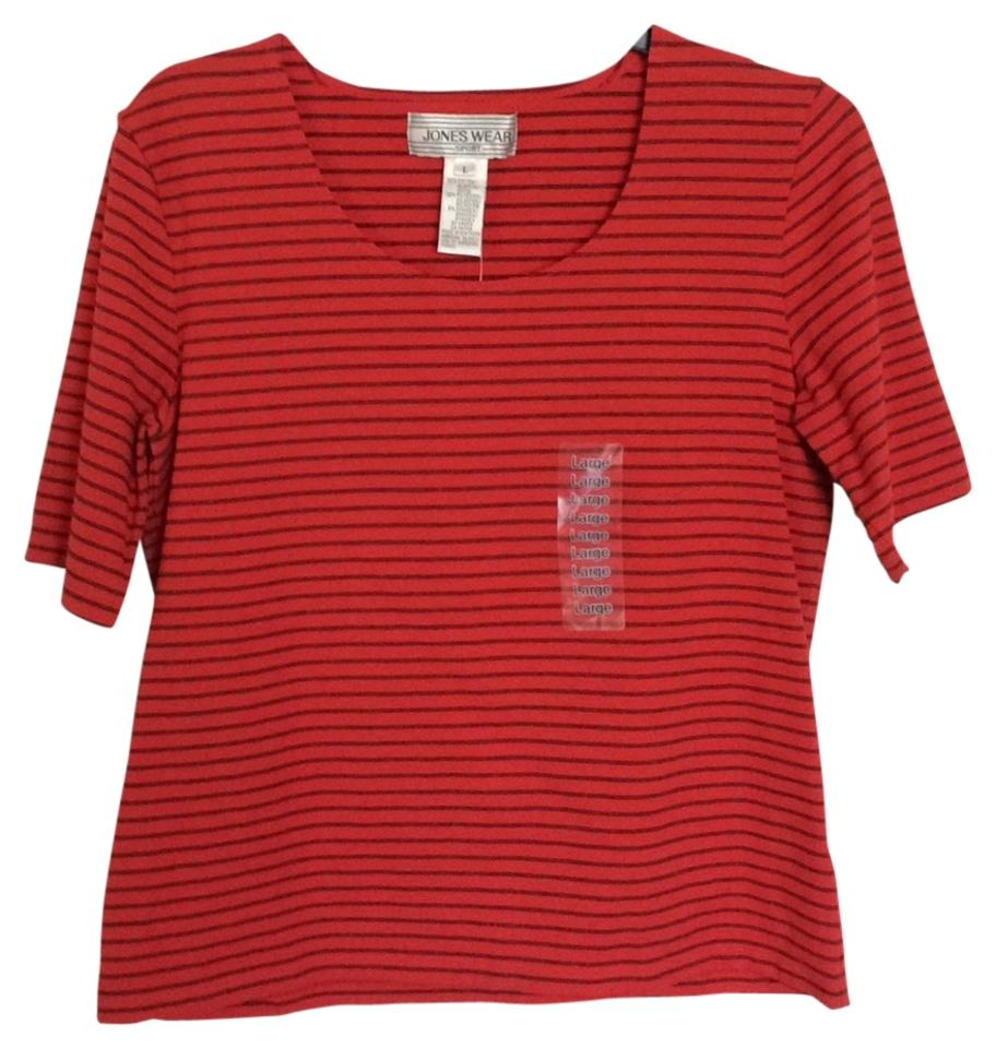 466143921979d Jones Wear Tomato Red Tee Shirt Size 12 (L) - Tradesy