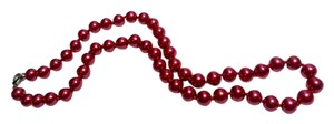 New Fresh Water Pearl Necklace Dark Pink Cultured J2478